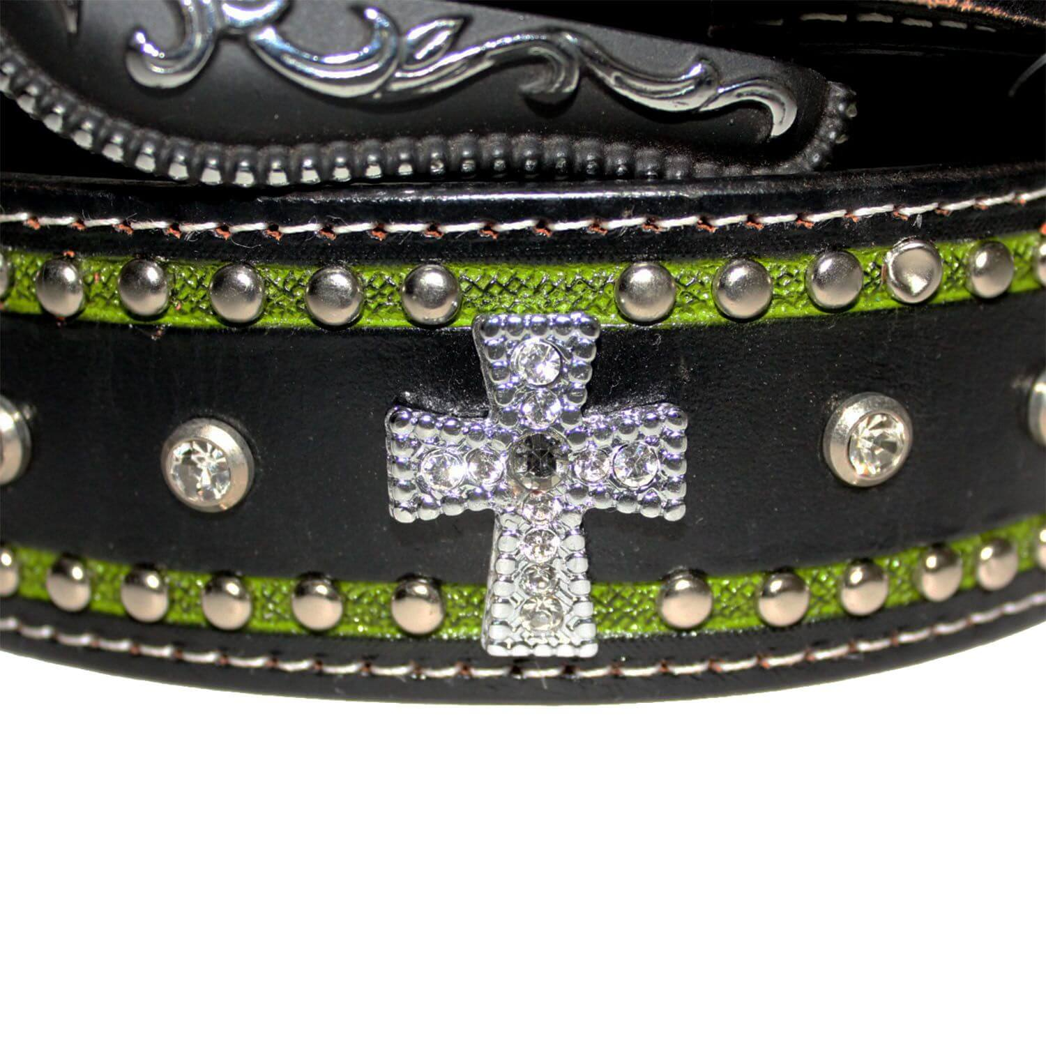 Cinto Arizona Belts Preto Verde 7099