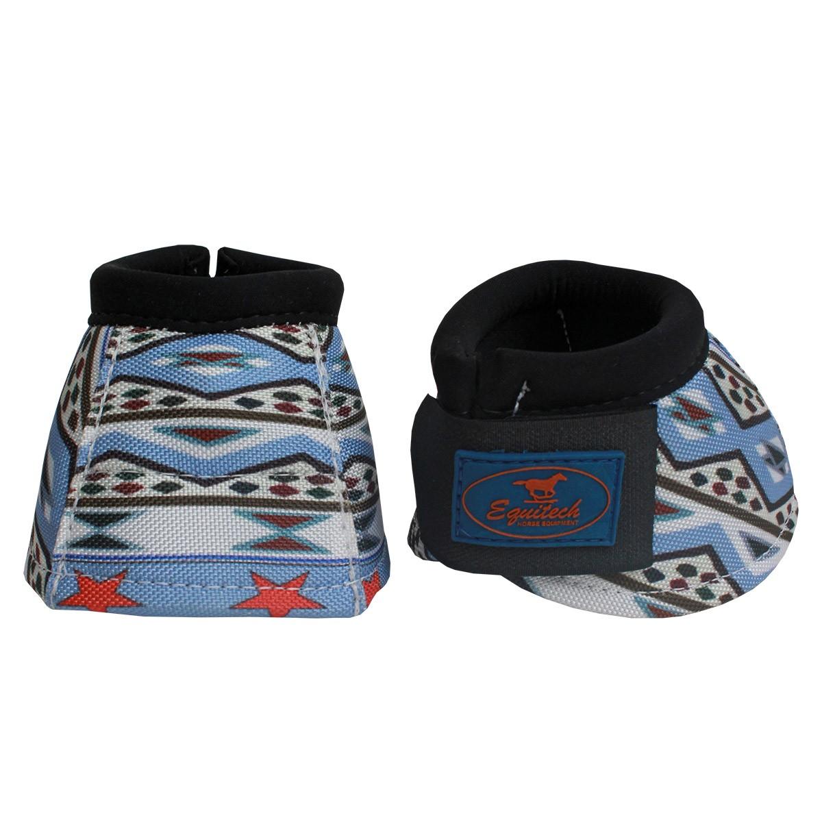 Cloche Equitech De Neoprene Estampa Navajo Azul