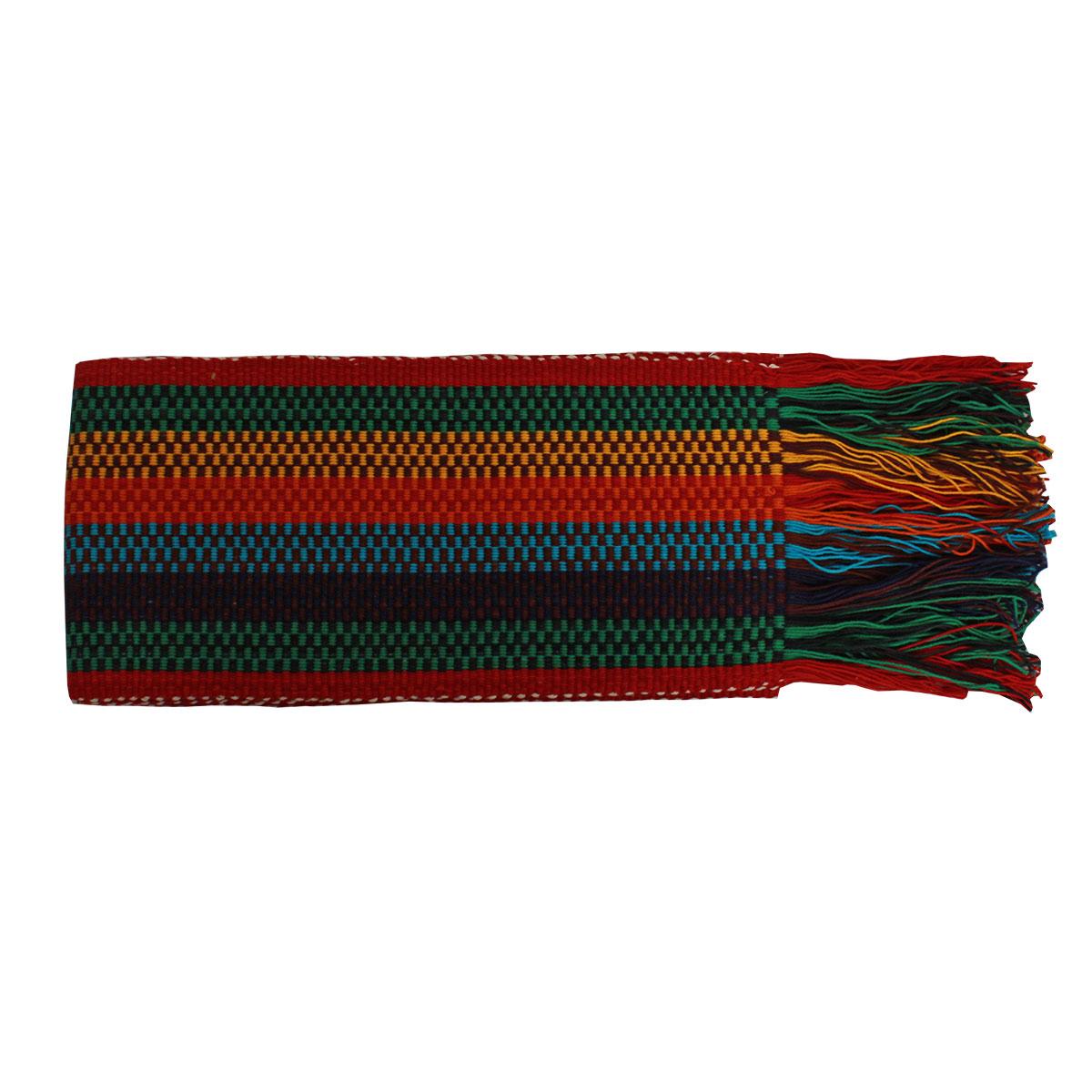 Faixa Paraguaia Boiadeira Colorida Vermelha E Verde