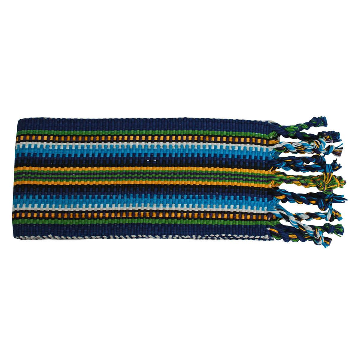 Faixa Paraguaia Boiadeira Verde Com Azul