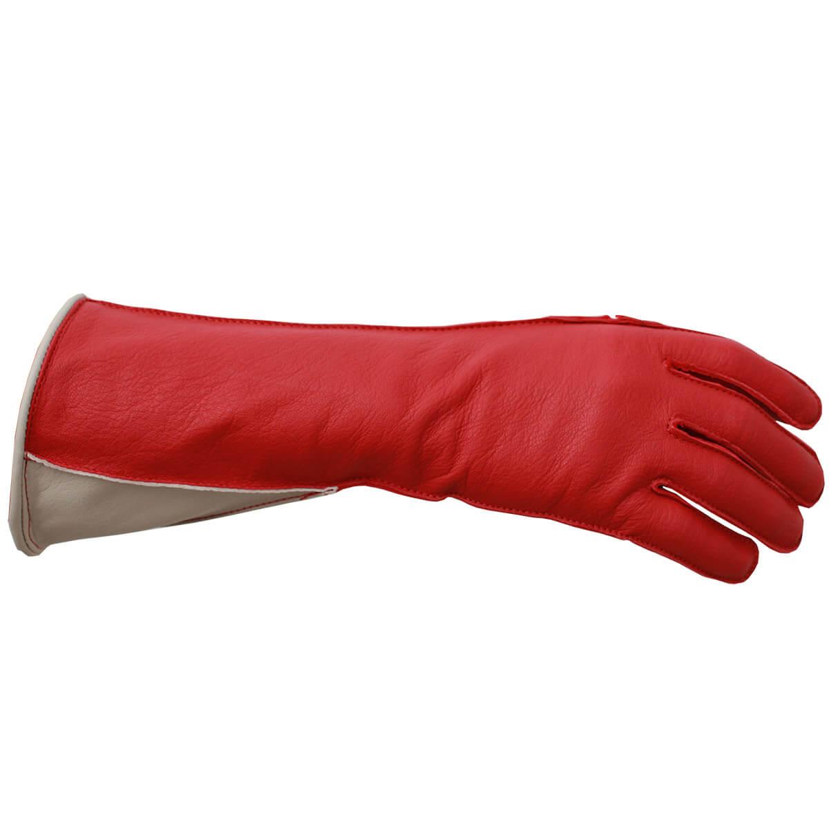 Luva De Montaria Guilherme Marchi Mão Esquerda Vermelha Logo Prata