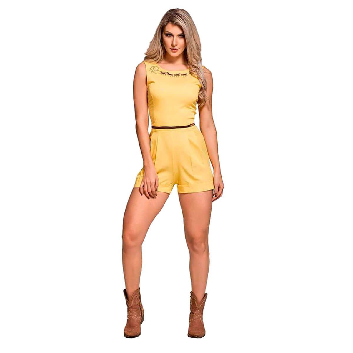 Macaquinho Feminino Buphallos Amarelo