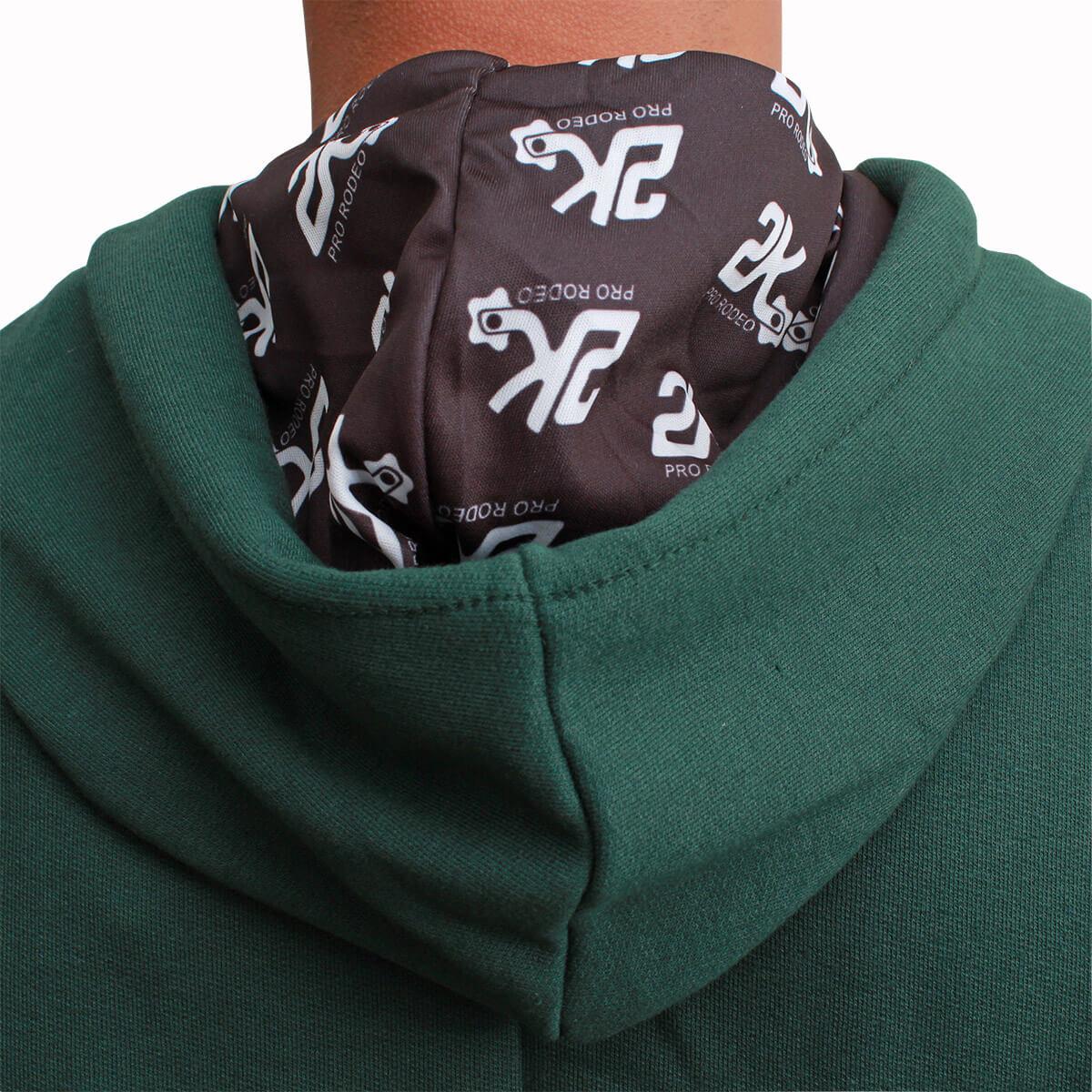 Moletom 2K Jeans Masculino Verde Escuro Com Logo Turquesa