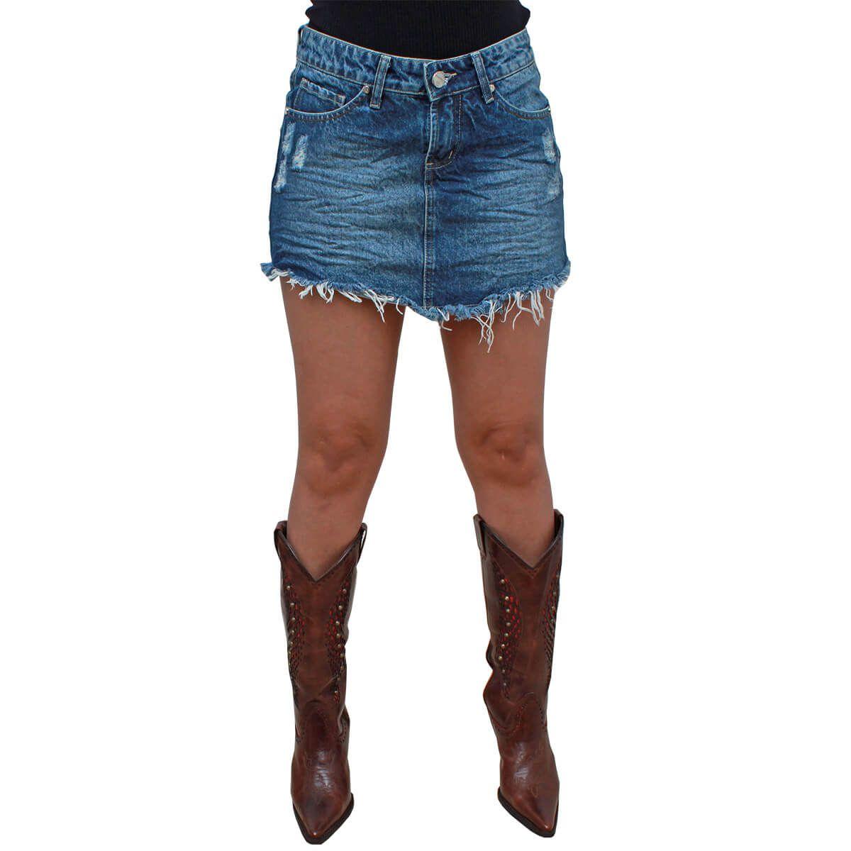 Saia Os Vaqueiros Jeans Zarina