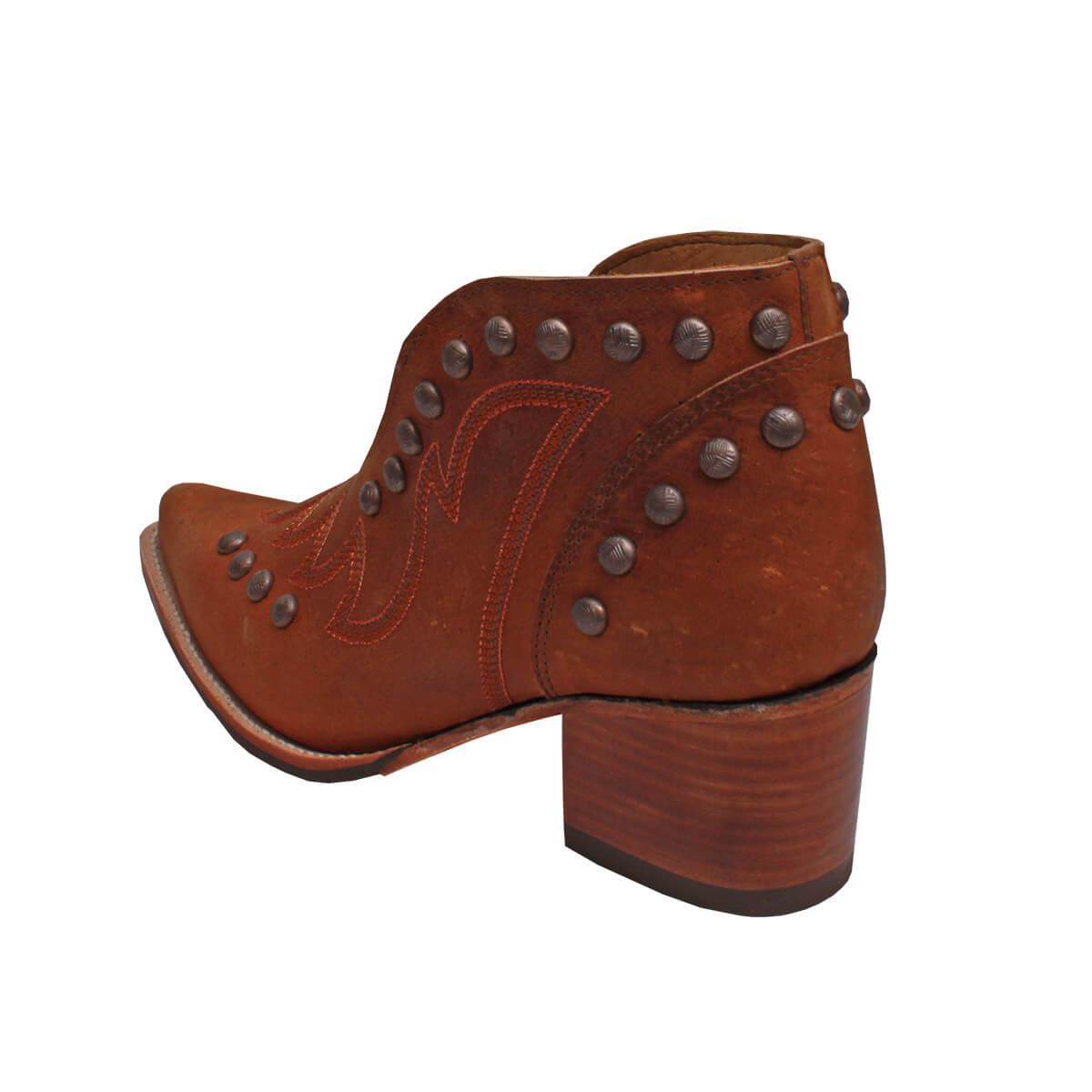 Sapato Goyazes Feminino Solado De Couro