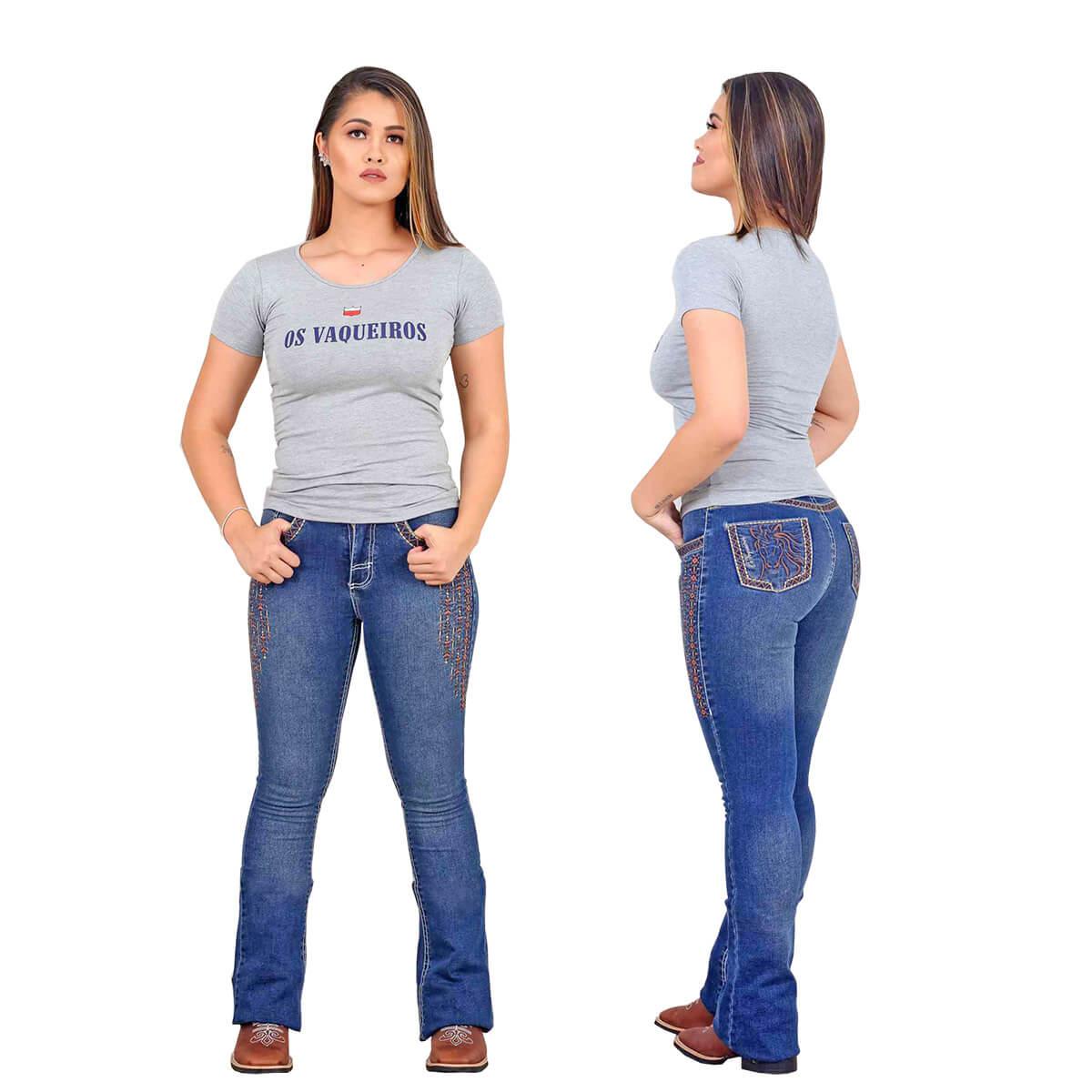T-Shirt Os Vaqueiros Feminina Cinza