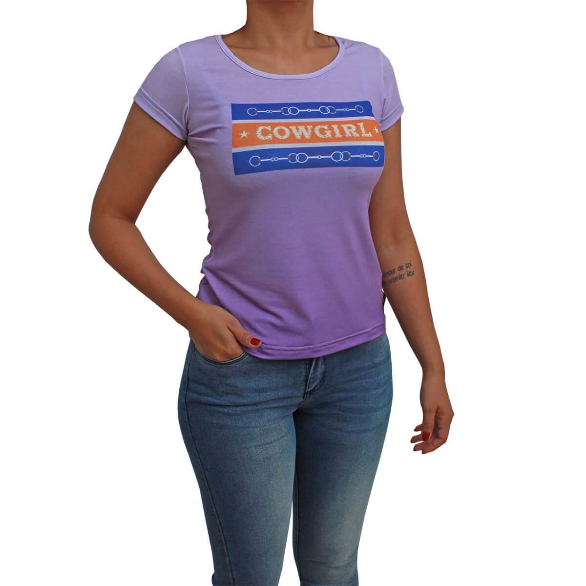 T-Shirt Ride Horse Feminina Roxa