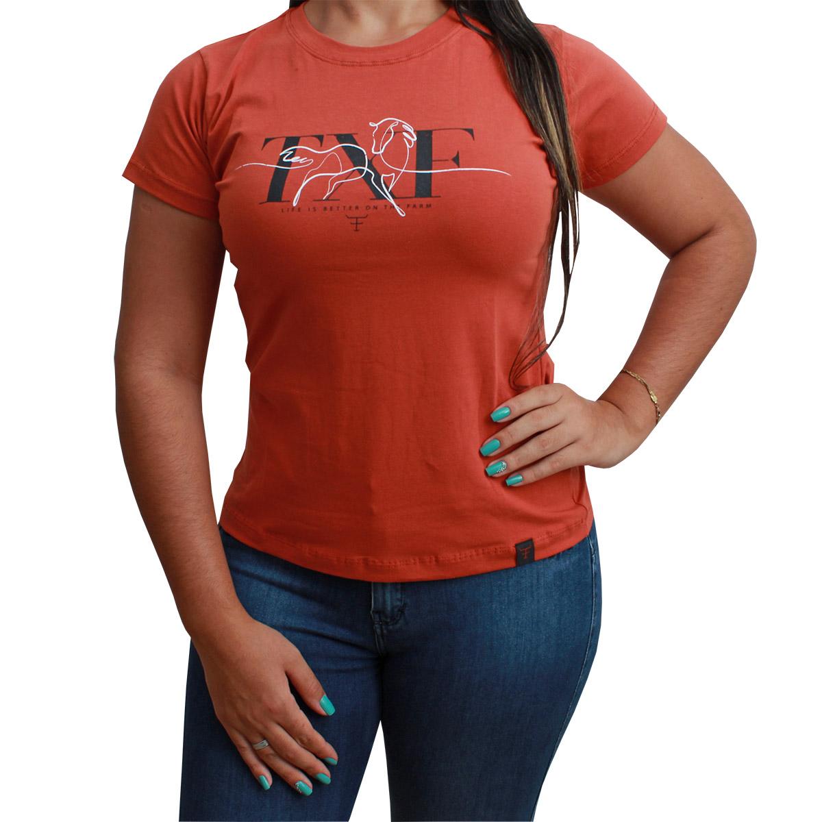 T-Shirt Texas Farm Terra Cota TXF