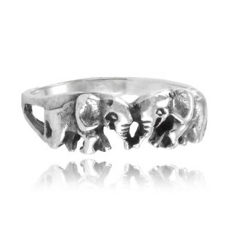 Anel Elefante Prata 925