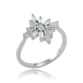 Anel Estrela Cravejado Prata 925
