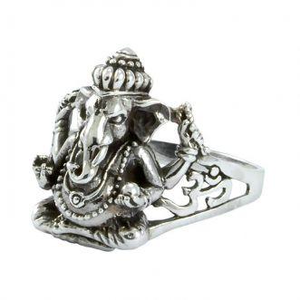 Anel Ganesha Ohm Prata 925