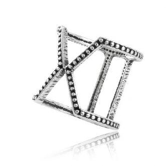 Anel Geométrico Conexões Prata 925