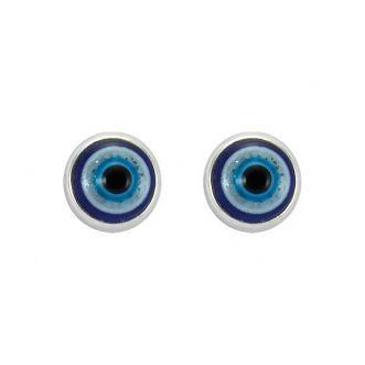 Brinco Olho Grego em Prata 925