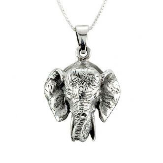 Colar Cabeça de Elefante Prata 925