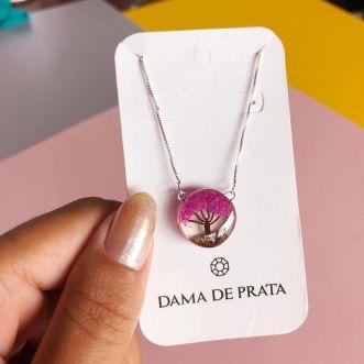 Colar Encantado Prata 925 Rosa
