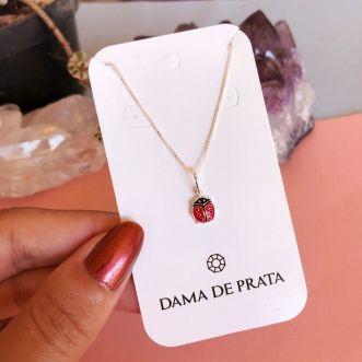 Colar Joaninha Prata 925