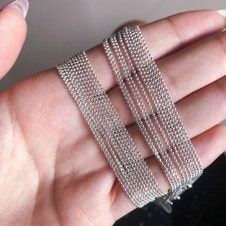 Corrente 50 cm Prata 925 Bolinhas