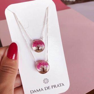 Escapulário Encantado Prata 925 Rosa