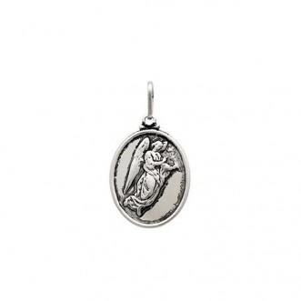 Pingente Medalha Anjo Gabriel Prata 925