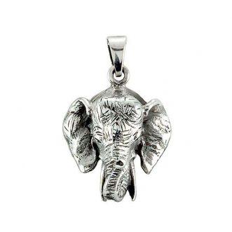 Pingente Cabeça de Elefante Prata 925