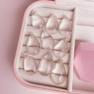 Pingente Cristal Prata 950 Pedra Natural Gota