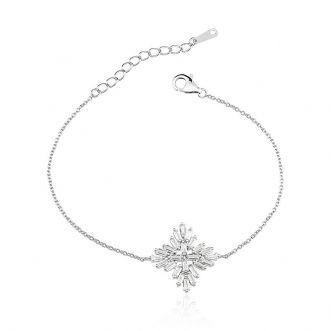 Pulseira Estrela Cravejado Cristal em Prata 925