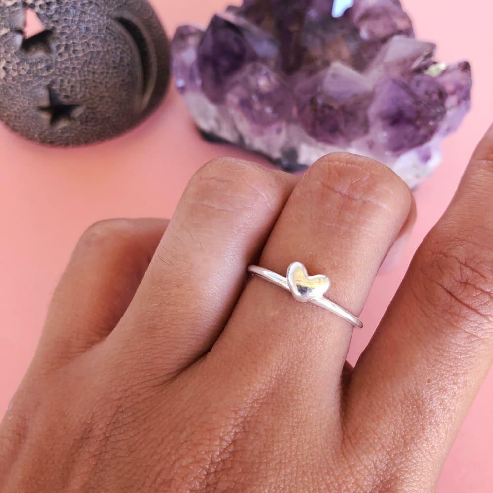 Anel coração Mini Prata 925
