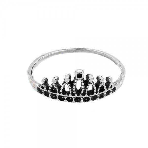 Anel Coroa Queen em Prata 925