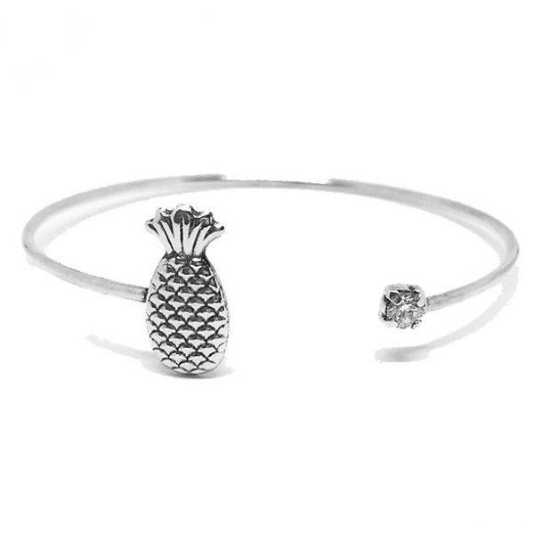 Bracelete Abacaxi Prata 925