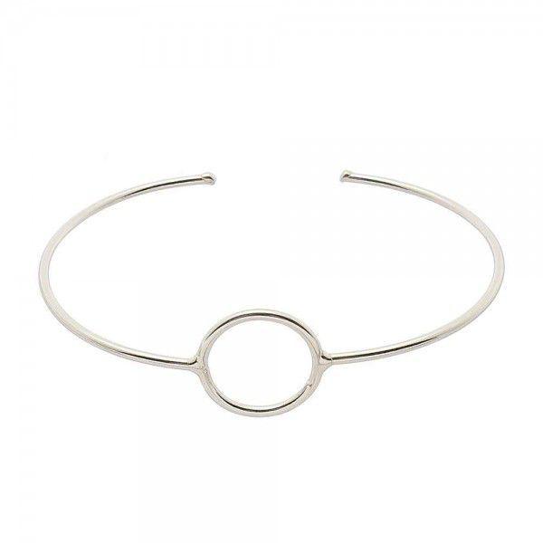 Bracelete Círculo Geométrico Prata 925