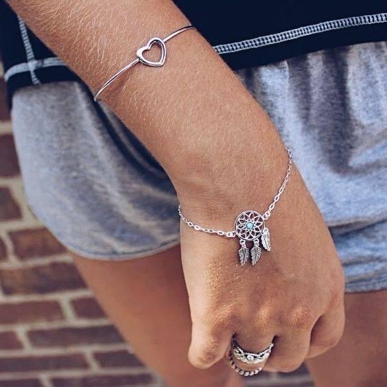 Bracelete Coração em Prata 925