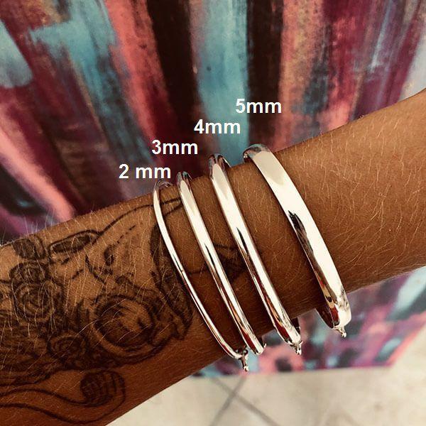 Bracelete Prata 925 3mm Perfil Arredondado