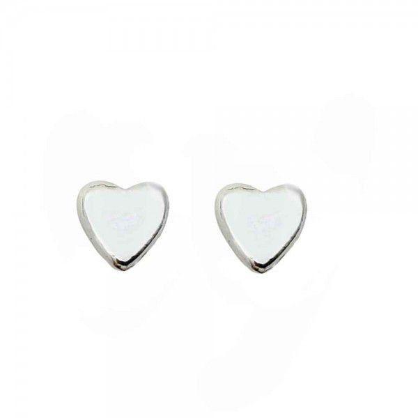 Brinco Baby Coração Prata 925