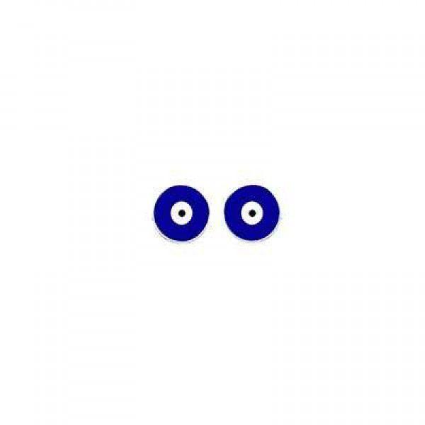 Brinco Olho Grego Pequeno Prata 925