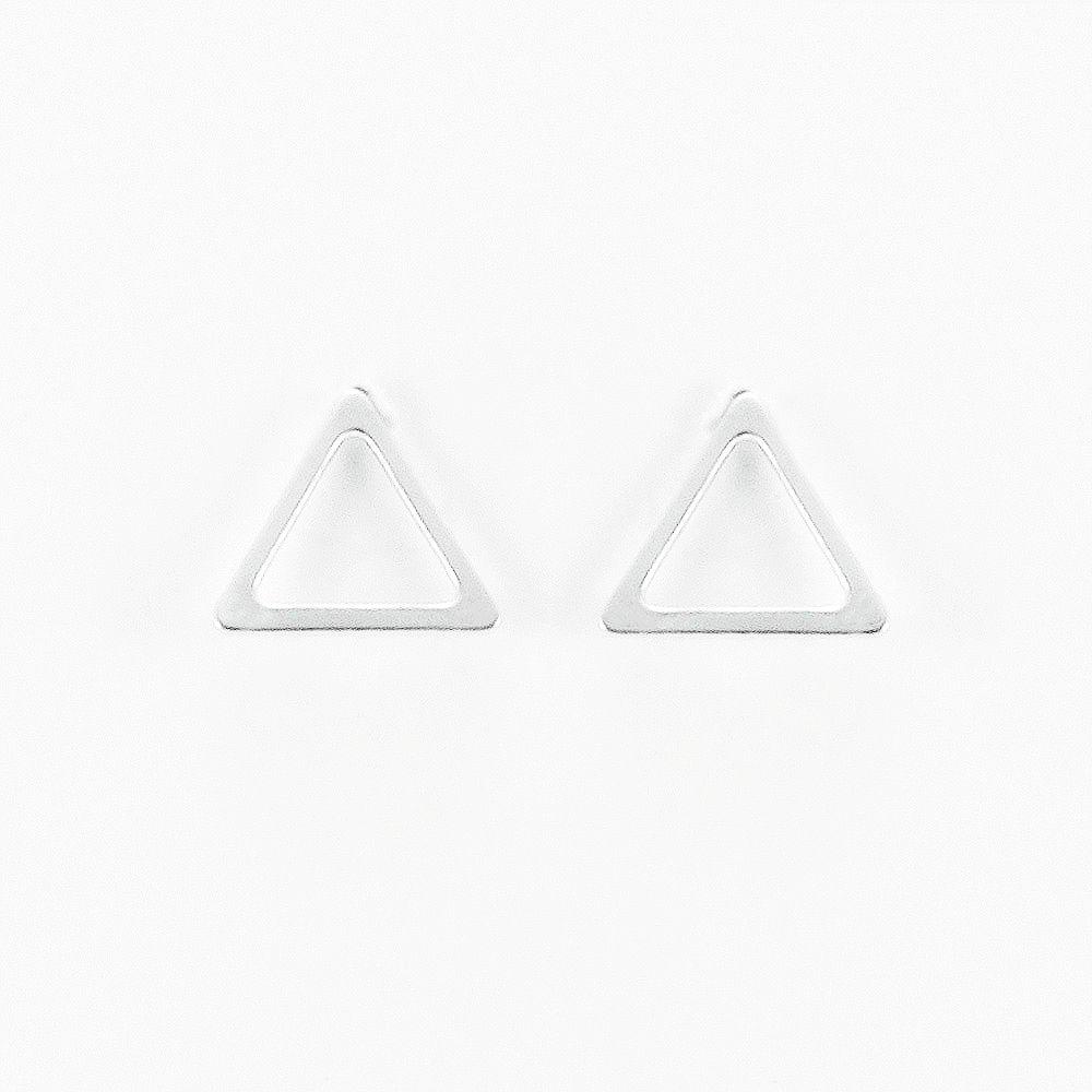 Brinco Triângulo Vazado Grande em Prata 925