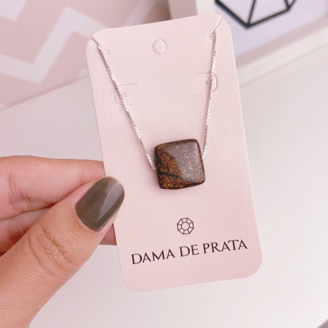 Colar Bronzita Prata 925