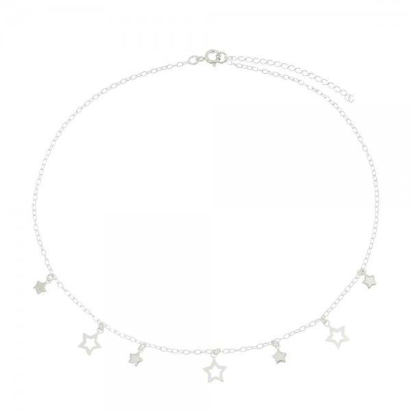 Colar Estrelas Prata 925