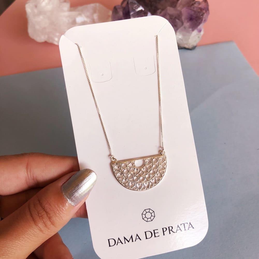 Colar Mandala Prata 925