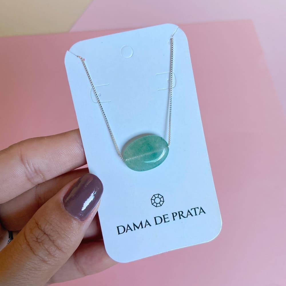 Colar Quartzo Verde Prata 925