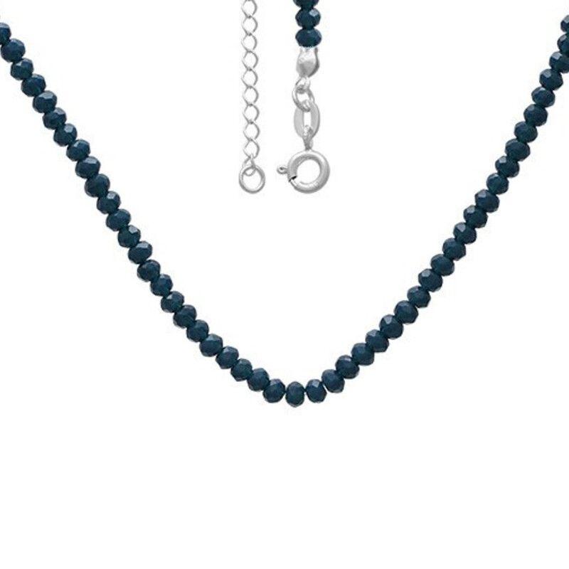 Chocker miçangas azuis Prata 925