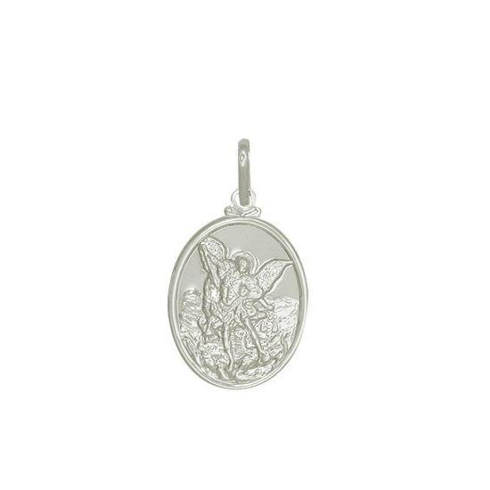 Pingente Medalha São Miguel Arcanjo Prata 925