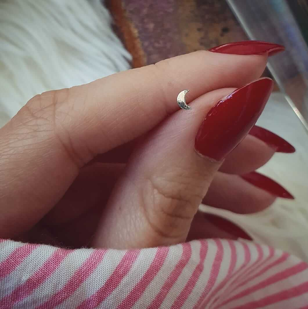 Piercing Nariz Lua Prata 925