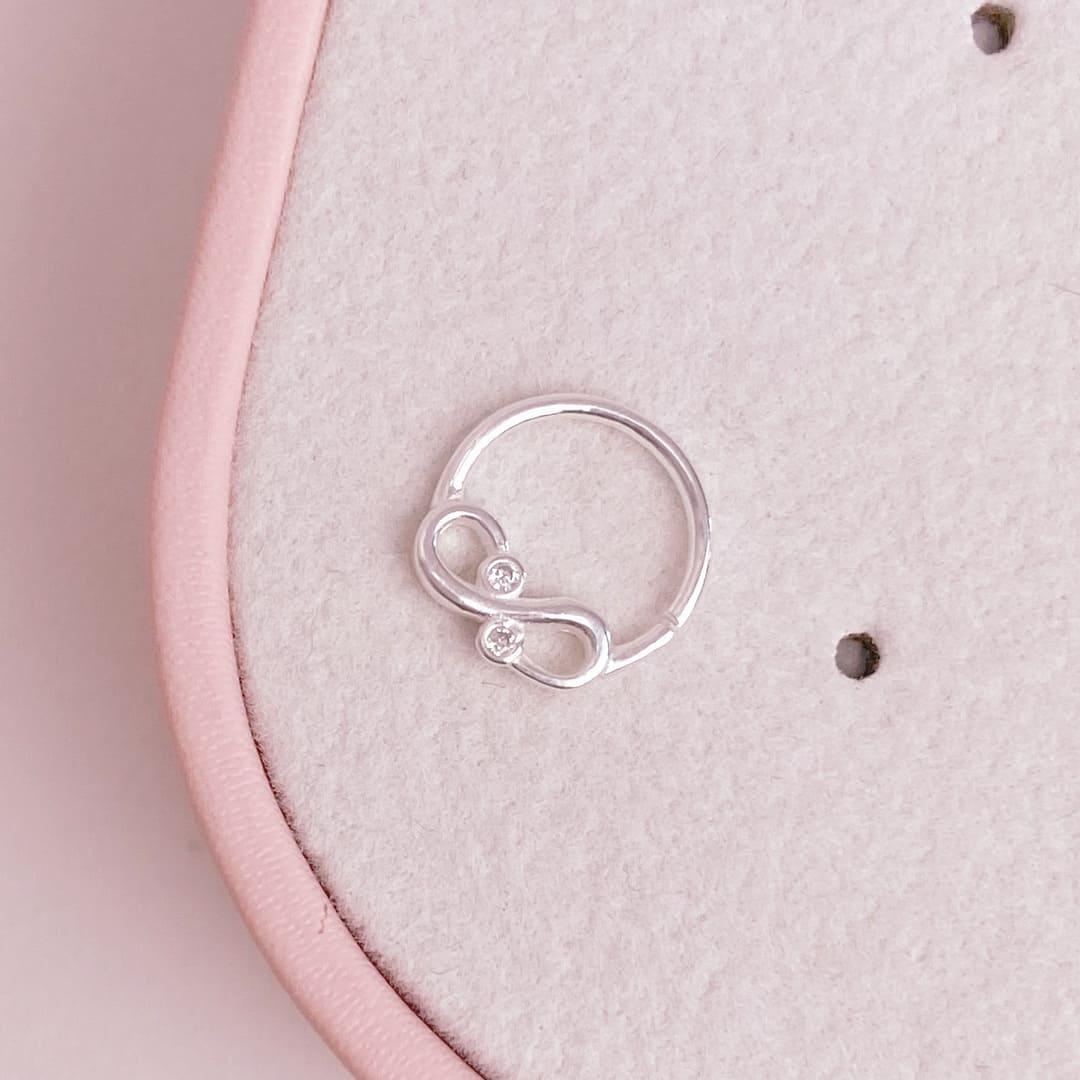 Piercing Septo Cartilagem Prata 925 Infinito