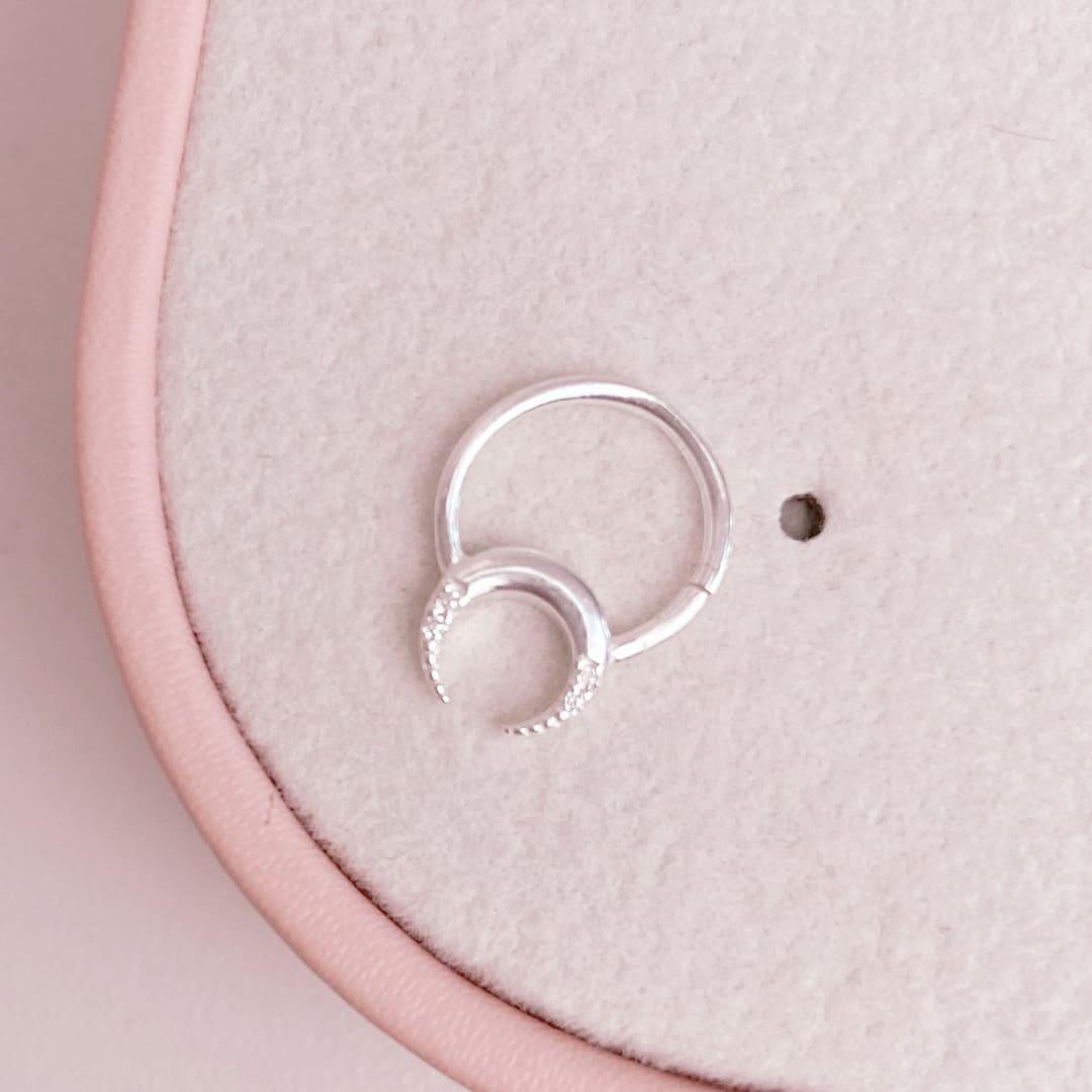 Piercing Septo Cartilagem Prata 925 Lua