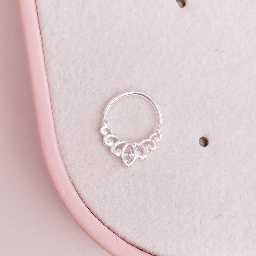 Piercing Septo Cartilagem Prata 925 Mandala