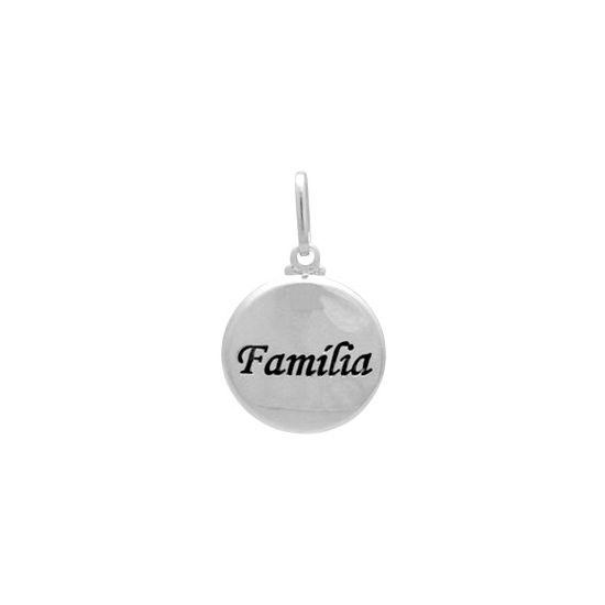 Pingente Medalha Família Prata 925