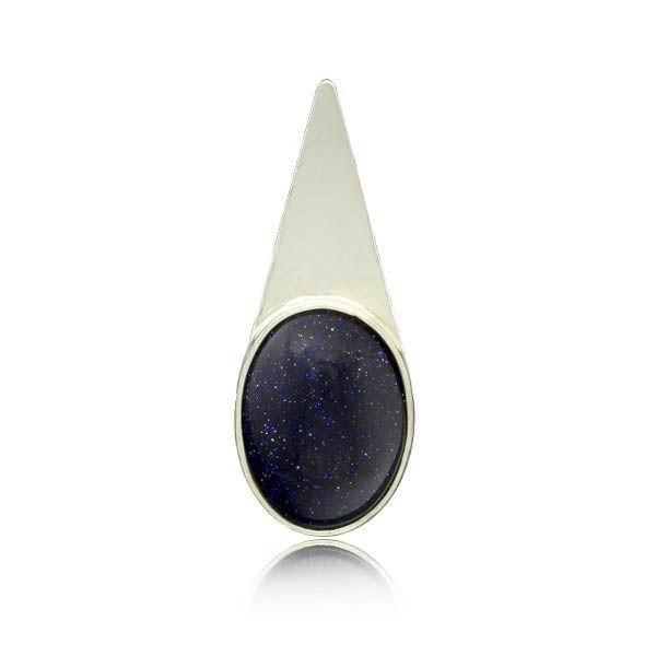 Pingente Pedra Estrela Prata 925