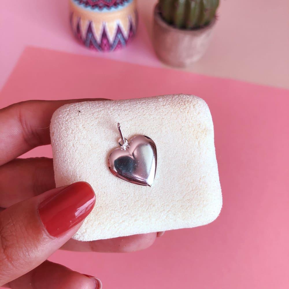 Pingente Prata 925 Coração