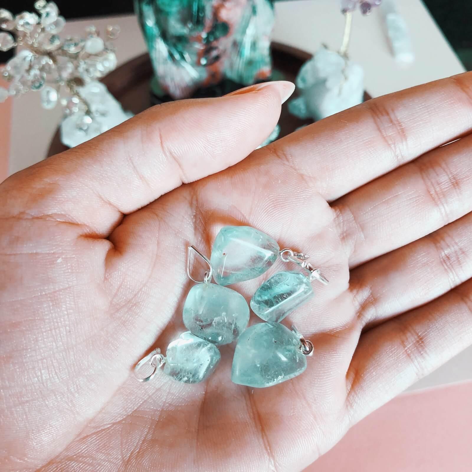 Pingente Topázio Azul Prata 950