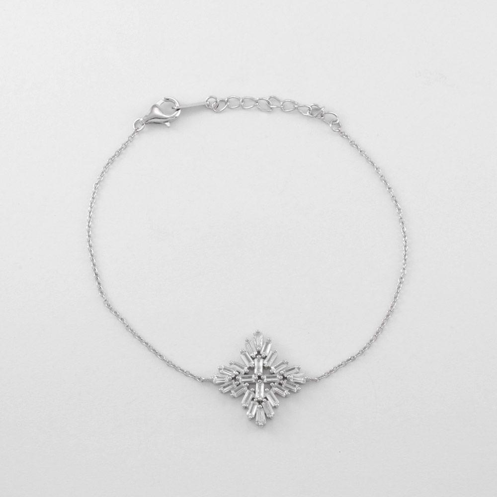56eaf2c7a5a Pulseira Estrela Cravejado Cristal em Prata 925
